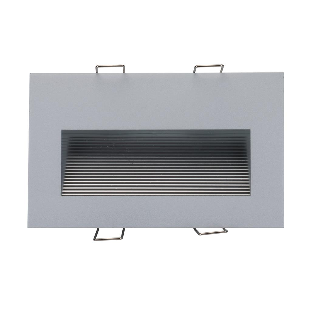 bb92c74ac9138 SLIDE-2 Recessed 2W LED Steplight - Silver Finish